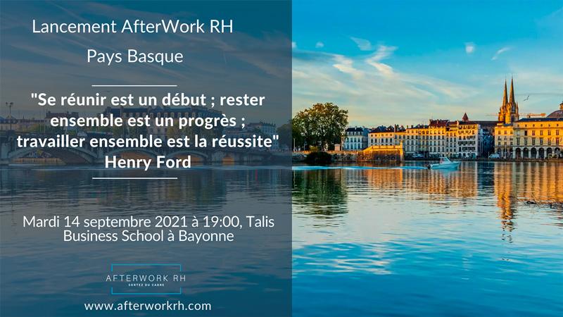 AfterWorh RH Pays Basque mardi 14 septembre 2021 à 19:00, Talis Business School à Bayonne